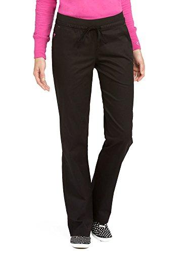 Med Couture Signature Yoga Drawstring Scrub Pant for Women, Black/Raspberry, ()