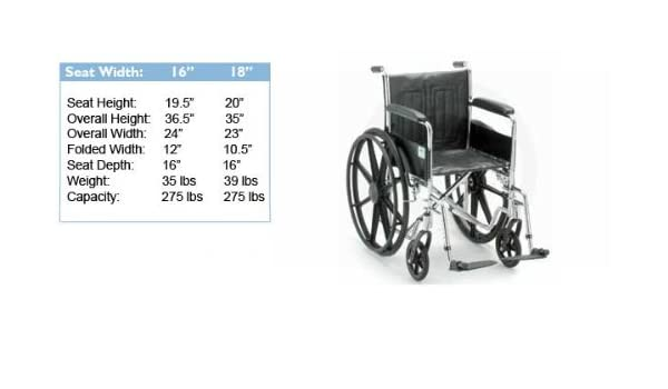 Excellent Amazon Com Wheelchairs Nova Ortho Med 5000 Series Inzonedesignstudio Interior Chair Design Inzonedesignstudiocom
