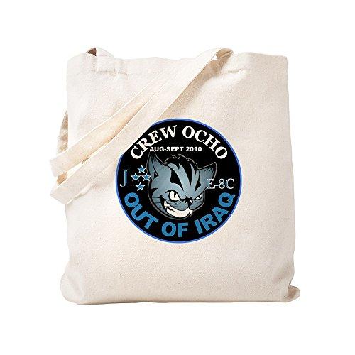 - CafePress 2-Crew Ocho Kitty Natural Canvas Tote Bag, Cloth Shopping Bag