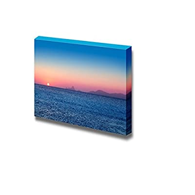 Unbelievable Expertise, With Expert Quality, Beautiful Sunset Seascape with Mountian from Afar Home Deoration Wall Decor