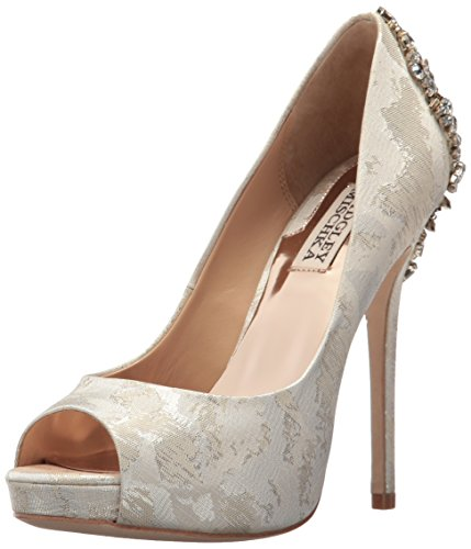 Badgley Mischka Women's Kiara Pump, Cream Brocade, 6 M US by Badgley Mischka