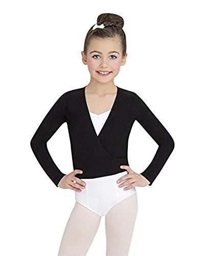 Capezio Youth Classics Wrap Top, Black-LG 12/14 by Capezio