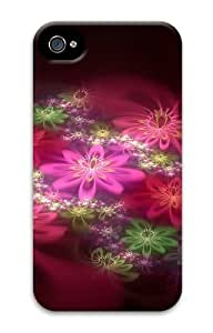 Colorful Flowers Cg PC Case for iphone 4S/4