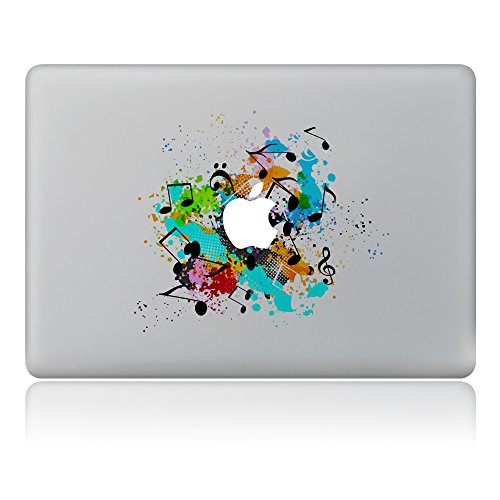 Vati Leaves Removable Play Music Vinyl Decal Sticker Skin Art Black for Apple Macbook Pro Air Mac 13