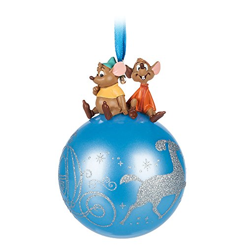 Disney Cinderella Jaq and Gus on Glass Ball (Decorated Glass Ball Ornaments)