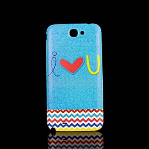SHOUJIKE Heart Pattern Cover fo Samsung Galaxy Note 2 N7100 Case