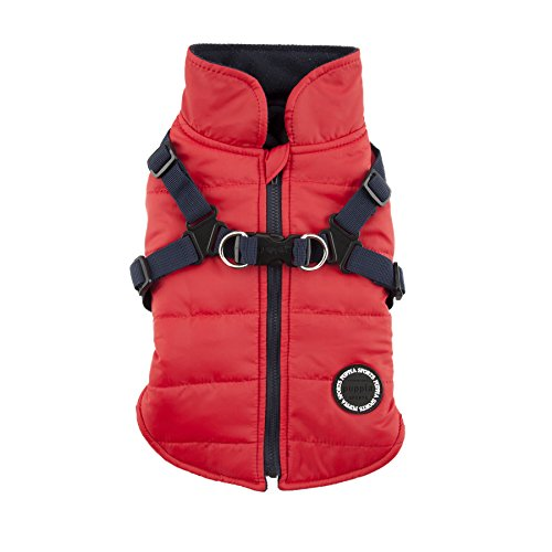 Puppia Authentic Mountaineer II Winter Vest, Large, Red