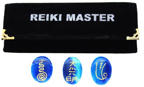 Reiki Master Blue Onyx Oval Shape Size: 30-40mm