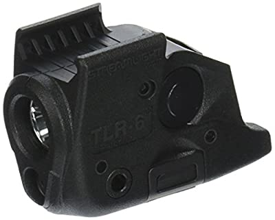 Streamlight 69291 TLR-6 Tactical Pistol Mount Flashlight 100 Lumen with Integrated Red Aiming Laser Only for Springfield Armory XD Railed Hand Guns, Black