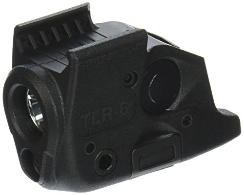 Streamlight 69291 Tlr 6 Tactical Pistol Mount Flashlight 100 Lumen With Integrated Red Aiming Laser For Springfield Armory Xd Railed Hand Guns  Black