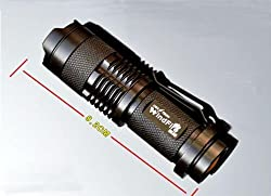 Mini CREE Led Flashlight Torch Adjustable Zoom Light Lamp from MECO