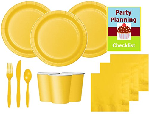 Bright-Yellow-Party-Supply-Pack-for-20-Guests-Plates-Napkins-Cups-Cutlery