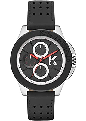 Karl Lagerfeld KL1412 Black Leather Chronograph Men's Watch
