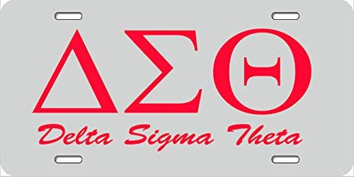 Strawbaru Delta Sigma Theta License Plate, Car Tag, Vanity Plate, Auto Tag, Fantasy Decor.