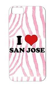 I Love San Jose Tearproof Red Case Cover For Iphone 5c Hockey Sports Hockey Heart Jos Love