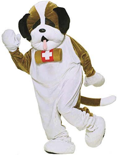 Mascot Costumes Economy (Forum Novelties Men's St. Bernard Dog Mascot Costume Puppy Plush Economy One Size Fits Most)