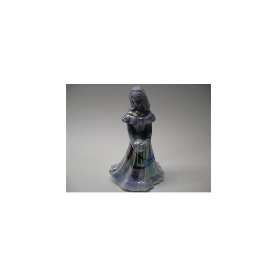 Fenton Purple & White Slag Carnival Glass Bridal Doll
