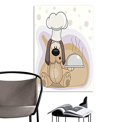 UHOO Linen Art Prints PicturesCook Dog.jpg Wall Art for Bedroom Living Room 20