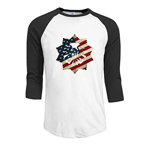 Juniors American Eagle (Men' Raglan Funny Shirts American Flag Eagle Retro Crew Neck Half Sleeve T-shirts)
