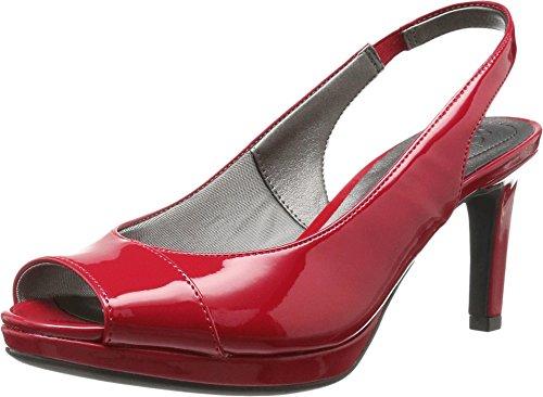 (LifeStride Women's Invest Peep Toe Slingback,Classic Red Polyurethane,US 9.5 N)