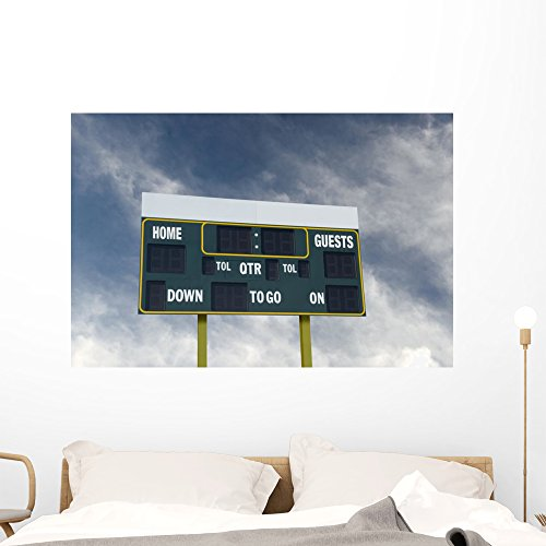 Wallmonkeys American Football Scoreboard with Wall Mural Peel and Stick Graphic (48 in W x 32 in H) ()