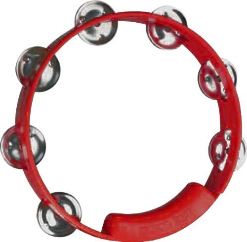RhythmTech TC4038 8-Inch True Colors Tambourine, Red - Red Tambourine