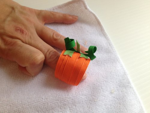 Fall Pumpkin Ribbon Sculpture for Hair Bows, Halloween Decorations, gifts, scrapbooking and more ()