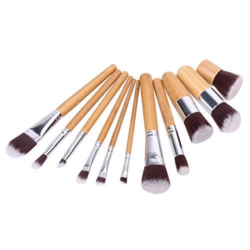 JD Million shop 11Pc Makeup Brushes Set Foundation Eyeshadow Powder Brush Brochas Maquillaje Face Contour Blush Make up Brushes Pincel Maquiagem