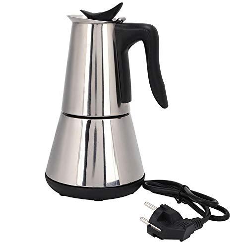 Cafetera eléctrica, Cafetera de acero inoxidable para preparar té 300ML (4 tazas), Máquina de espresso portátil…