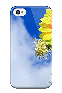 Protective Tpu Case With Fashion Design For Iphone 4/4s (flower In The Sky)
