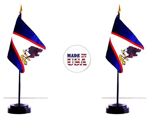 (Made in The USA. 2 American Samoa Rayon 4