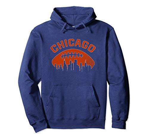 (Vintage Chicago Illinois Cityscape Retro Football)