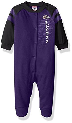 NFL Baltimore Ravens Unisex-Baby Sleep 'N Play, Purple, 0-3 Months