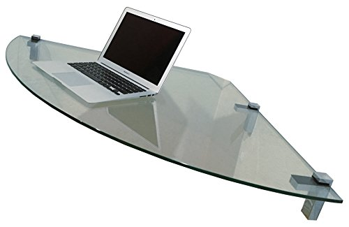NEW AIR Space Professional Corner Desk (Clear) by CornerVisions
