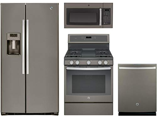 GE 4-Piece Kitchen Appliance Package with GSE25HMHES 36
