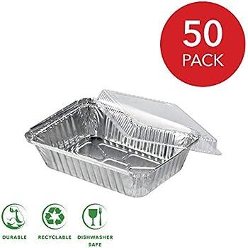 Amazon Com Disposable Aluminum Oblong Foil Pans With