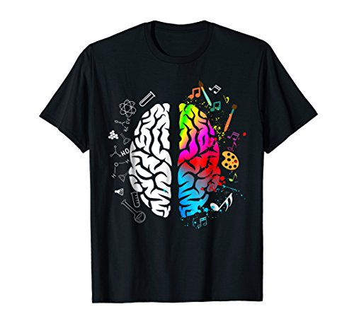 Colorful Art Lover Shirt Gifts Brain Science Teacher ()