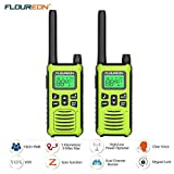 FLOUREON Walkie Talkie Two Way Radios Up to 5000Meters/3.1Miles Range 22 Channel Handheld