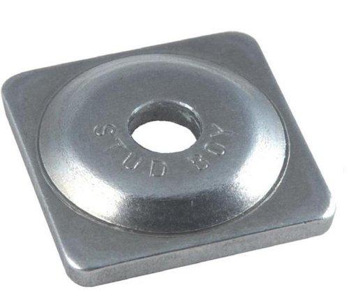 Support Square Plates Aluminum (Stud Boy Square Backer Plates - Aluminum - Silver - 5/16in. Thread 2061-P1)