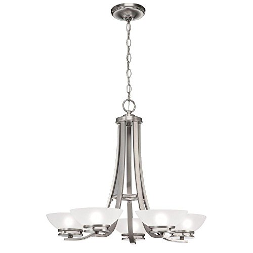 Hampton Bay 5-Light Brushed Nickel Contemporary Ceiling (Contemporary Brushed Nickel Chandelier)