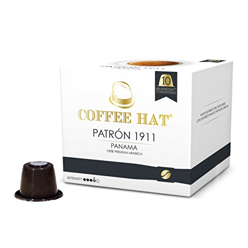 COFFEE HAT Patron 1911 from PANAMA - 20 Nespresso Compatible Coffee Capsules