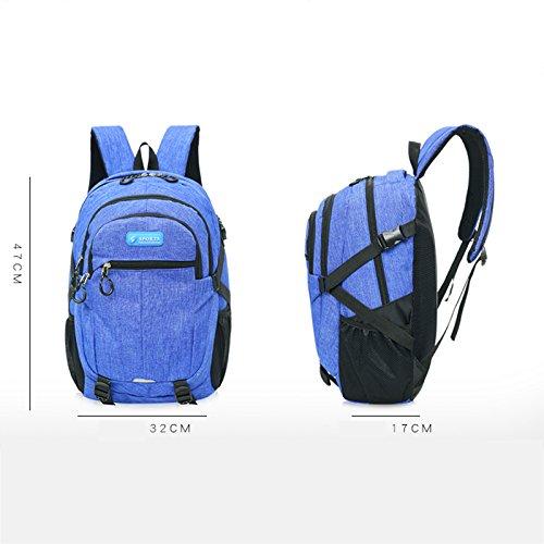 Espeedy 2017 nueva moda al aire libre de nylon mujeres hombres bolsas impermeables mochila de viaje reducir la mochila de alta calidad Backpak grande azul