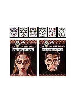 DISBACANAL Tatuajes de Halloween para Cara: Amazon.es: Juguetes y ...