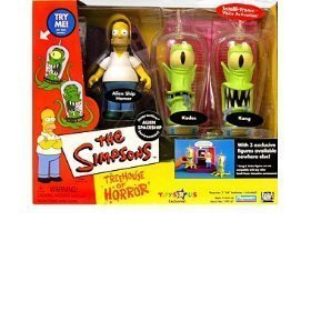 Simpsons - Interactive Environment (Playset) - Alien Spaceship - Treehouse of Horror 2 (THOH2) - TRU exclusive w/3 exclusive figures (Alien Ship Homer, Kang and Kodos) by Playmates/The Simpsons - Exclusive Playmates Playset