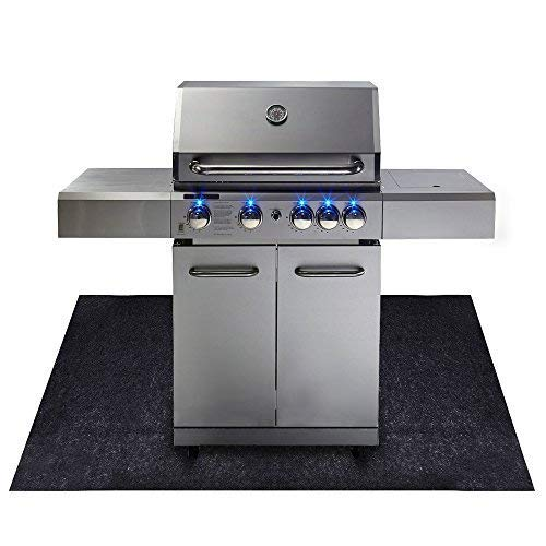Under the Grill Mat,BBQ Grilling Gear for Gas/Electric Grill–Absorbent Grill Pad Lightweight Washable Floor Mat to Protect Decks and Patios from Grease Splatter and Other Messes (Grill Mat 36'' x 72'') by CONVELIEF (Image #2)