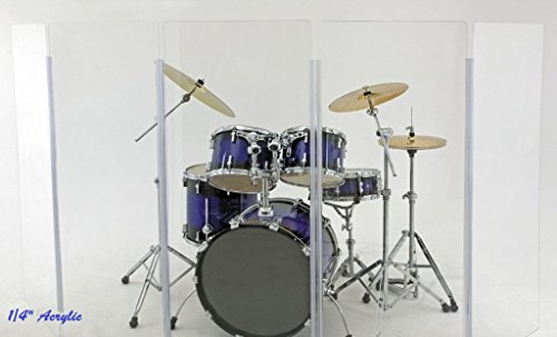 Clearsonic Booth - Drum Shield DS1 4 - 2foot X 4foot Panels no Deflectors