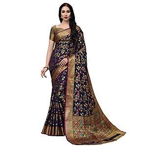 COTTON SHOPY Women's Banarasi Silk Saree With Blouse Piece