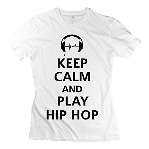 Fun 100% Cotton Keep Calm Play Hip Hop Shirt For Girls by DEARFISH Tee