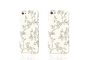 THYde Shabby Chic Powder Cream and Gold Birds in Floral Branches D Rough iphone 5c Case Skin, fashion design image custom iPhone 5c , durable iphone 5c hard D case cover for iphone 5c, Case New Design By Codystore ending