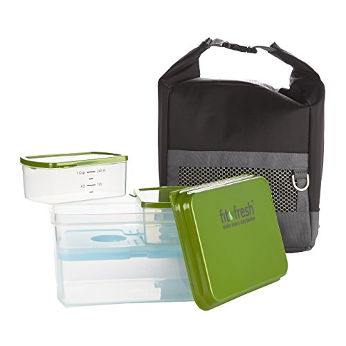 Men's 10 Piece Sporty Lunch Bag Set with Reusable Containers